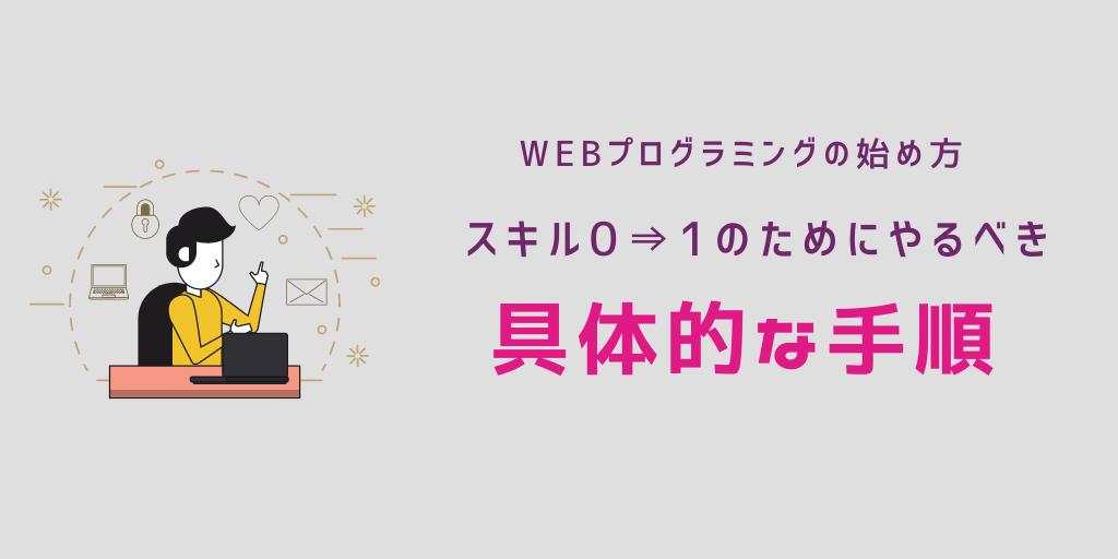 【Webプログラミングの始め方】スキル0⇒1のためにやるべき具体的な手順(初心者向け)